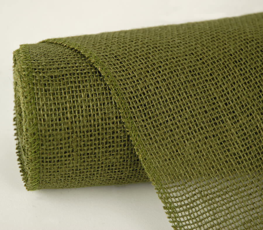 "Moss Green Jute Roll 10 yards (30 foot) x 14"" wide"