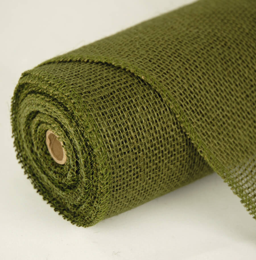 Moss Green Jute Roll 10 yards (30 foot) x 14