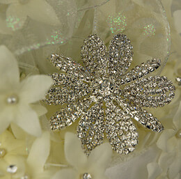 Bridal Brooch Jeweled Blossom