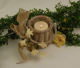 Tapered Willow Basket Vase 4in