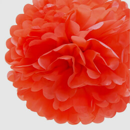 "Tissue Paper Pom Poms 20"" Coral (Pack of 4)"