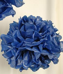 """Tissue Paper Pom Poms 8"""" Navy Blue (Pack of 4 Pom Poms)"""