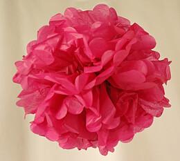 "Tissue Paper Pom Poms 8"" Fuchsia (Pack of 4 Pom Poms)"