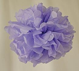 """Tissue Paper Pom Poms 8"""" Lavender (Pack of 4 Pom Poms)"""