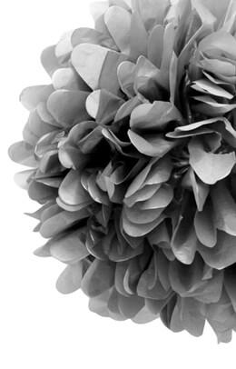 "4 Tissue Paper Pom Poms 20"" Silver"