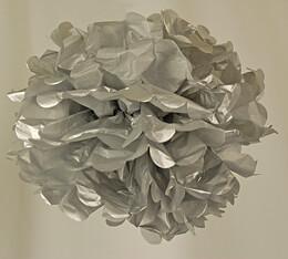 "Tissue Paper Pom Poms 8"" Silver (Pack of 4 Pom Poms)"