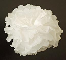 """Tissue Paper Pom Poms 8"""" White (Pack of 4 Pom Poms)"""