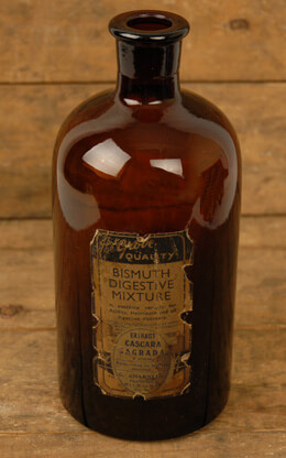 Medicine Bottle Brown 8.75in