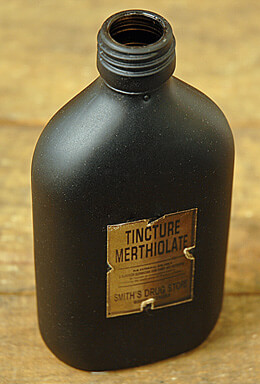 Medicine Bottle Black 5.5in
