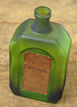Medicine Bottle Green 5.6in