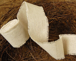 Linen Ribbon Natural 2in x 5 yds