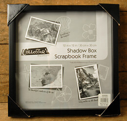 Shadow Box Scrapbook Frame