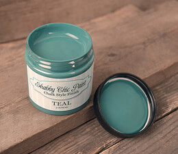 Shabby Chic Paint Chalk Style Finish - Teal 4 oz