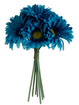 Turquoise Gerbera Daisy Bouquet