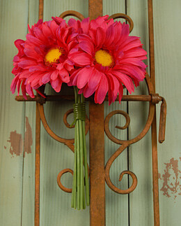 Gerbera Daisy Bouquet - Red Beauty 9.5in