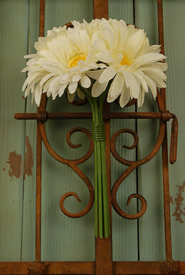 Gerbera Daisy Bouquet - White 9.5in