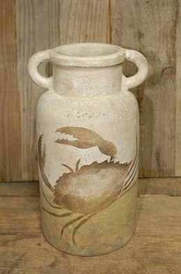 Painted Earthenware Jar 10.75in
