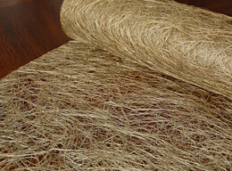 Abaca Fiber Metallic Silver Gold  Roll Natural 19in x 10 yards