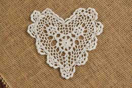 Darice Crochet Heart Doily - White 6in (pack of 12)