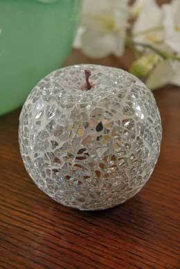 Silver Glass Mosaic Apple
