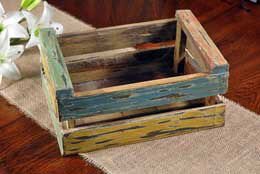 Wood Crate Multi Color 9.5 in x 13 in