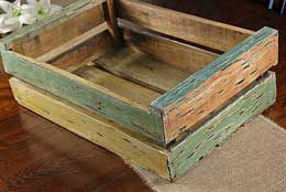 Wood Crate Multi Color 14 in x 22 in