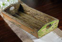 Wood Tray Multi Color 9.5 in x 21 in
