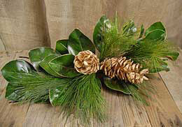Magnolia and Pine Holiday Swag