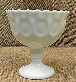 Heirloom Milk Glass Goblet 4in (Pack of 6)