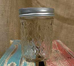 Mason Jars Quilted Crystal Jelly Jars - 8oz (Pack of 12)