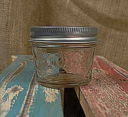 Mason Jars Quilted Crystal Jelly Jars - 4oz (Pack of 12)