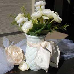 Heirloom Milk Glass Vase 5.75in