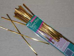 Gift Bag Twist Ties 7in Gold (Pack of 50)