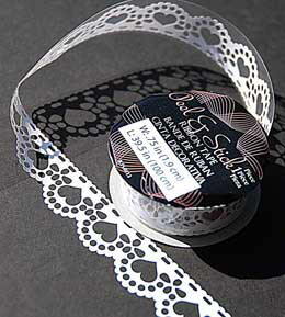 Die Cut Ribbon Tape .75in - Hearts Scalloped Edge (Pack of 5)