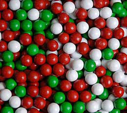 Christmas Mix Sixlets Favor Candy 14oz