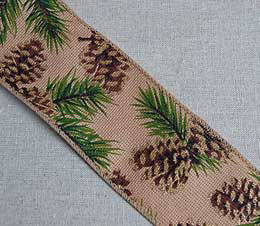 Pine Cone Ribbon - Wired 2.5