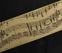 "Music Notes Ribbon - Wired 2.5"" (24' spool)"