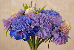 Scabiosa Bouquet Blue/Lavender 13in
