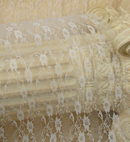 "Lace Table Runner 14"" x 72"" White"