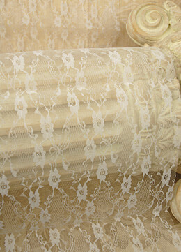 "Lace Table Runner 14"" x 72"" Ivory"