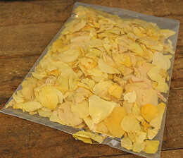 Rose Petals Sun-Kissed Yellow Freeze Dried (5 cups/pkg)