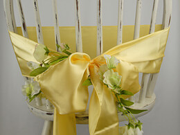 Daffodil Yellow Satin Chair Sashes (Pack of 10)