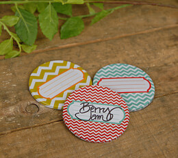 Jar Jewelry Mason Jar Lids Chevron (Set of 9)