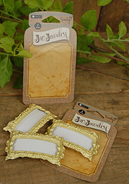 Jar Jewelry Gold Filigree Plaque for Mason Jars