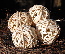 Natural Rattan Balls 4in (Set of 4)