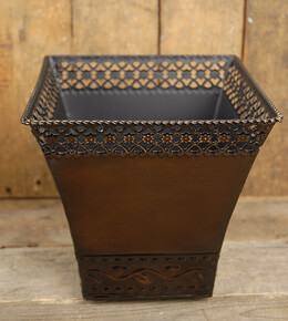 Tapered Metal Planter 7.5in