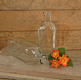 Glass Bottle Vase 7-3/8in (Case of 12)