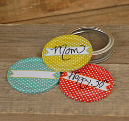 Jar Jewelry Mason Jar Lids Dot Patterns (Set of 9)