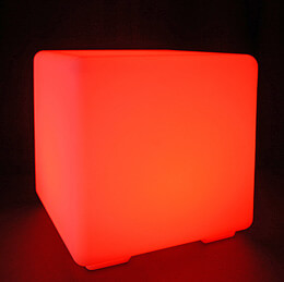Cordless LED Light Cube 12in