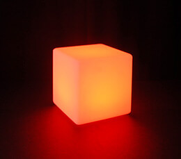 Cordless LED Light Cube 8in
